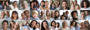 Collage,Mosaic,Of,Many,Happy,Multiracial,People,Couples,And,Families,